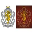 Heraldic royal lion vector
