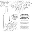Hand drawn wine label vector