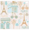 Paris symbols vector