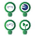 Environment light bulbs vector