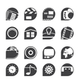 Internet and mobile phone icons vector