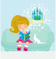 Dreaming about fairytale vector