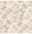 Audio cassette seamless pattern vector