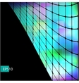 Dark abstract hi-tech green background vector