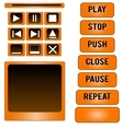 Media player buttons design elements vector