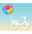 Motorcycle with balloons vector