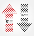 Modern arrow design template vector
