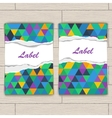 Card with pattern of colorful lozenges vector