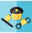 Police flat icon vector