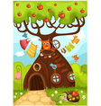 Fairy tree vector