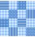 Seamless patchwork pattern blue vector