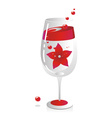 Decorated wine glass background vector