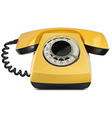 Telephone yellow vintage isolated vector