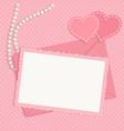 Retro pink framework vector