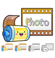 Different styles of film sets vector