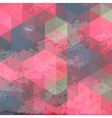 Geometric background with grunge texture vector