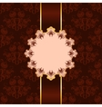 Invitation card with brown ornament vector