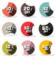 Sale retro stickers - labels vector