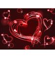 Neon or plasma hearts vector