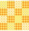 Seamless patchwork pattern orange vector
