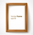 Light wooden rectangular 3d photo frame with vector