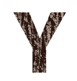 Bark letter y vector