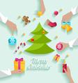 Decorating christmas tree vector