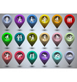 Symbolic life form of colorful gps icons vector