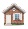 Small brick residential house vector