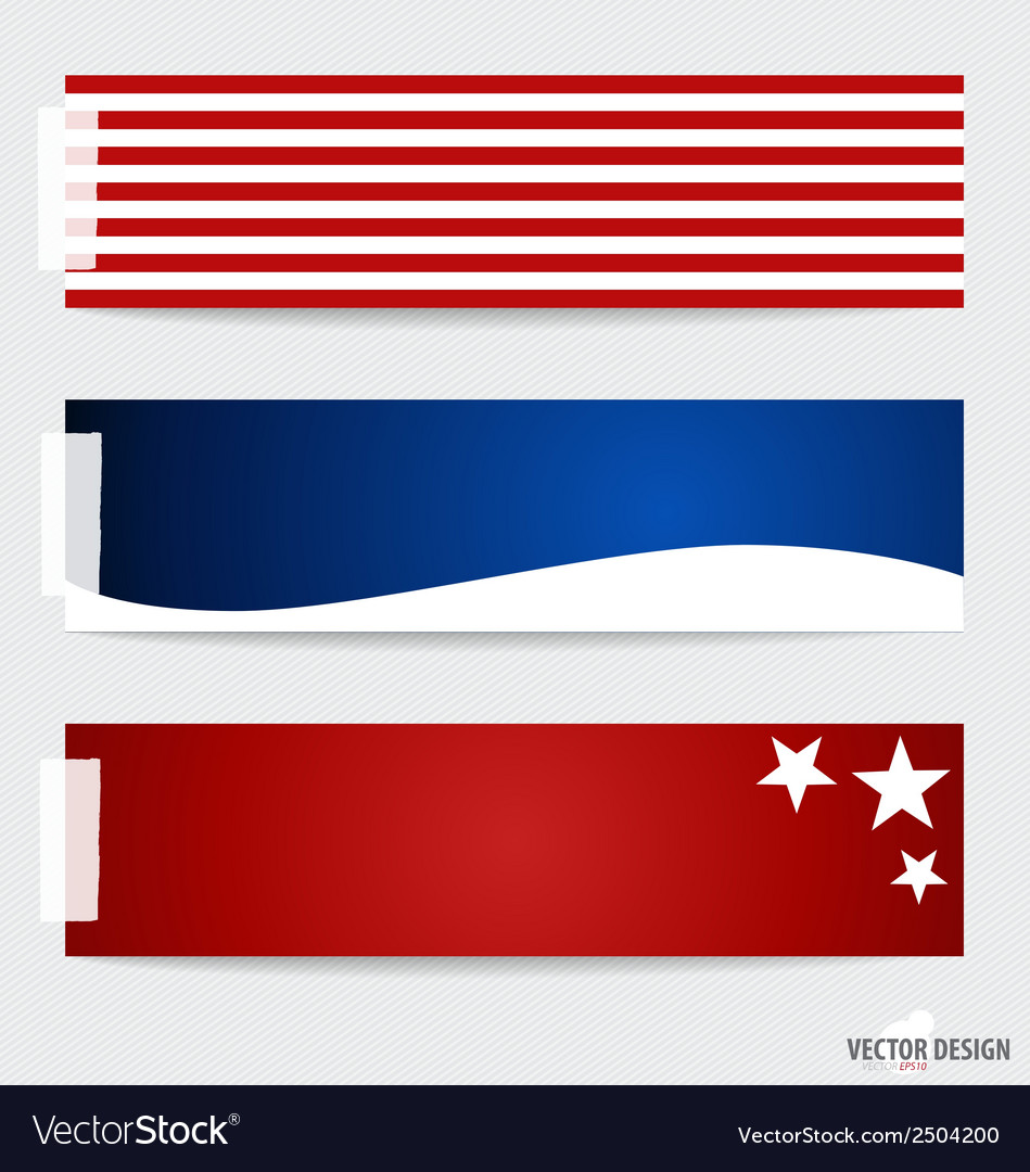 American flag note papers ready for your message vector | Price: 1 Credit (USD $1)