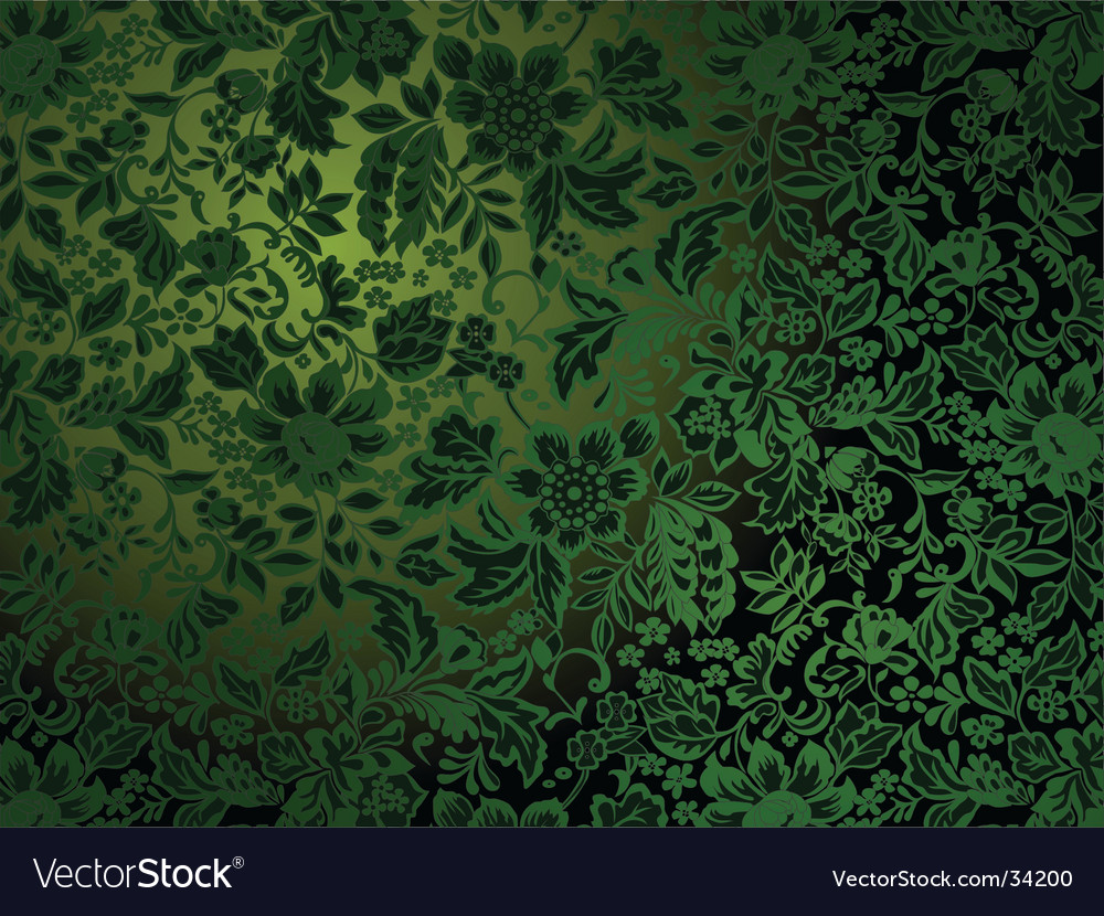 Antique wallpaper pattern vector | Price: 1 Credit (USD $1)