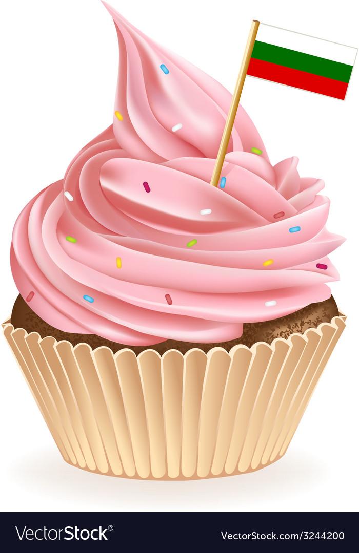 Bulgarian cupcake vector | Price: 1 Credit (USD $1)