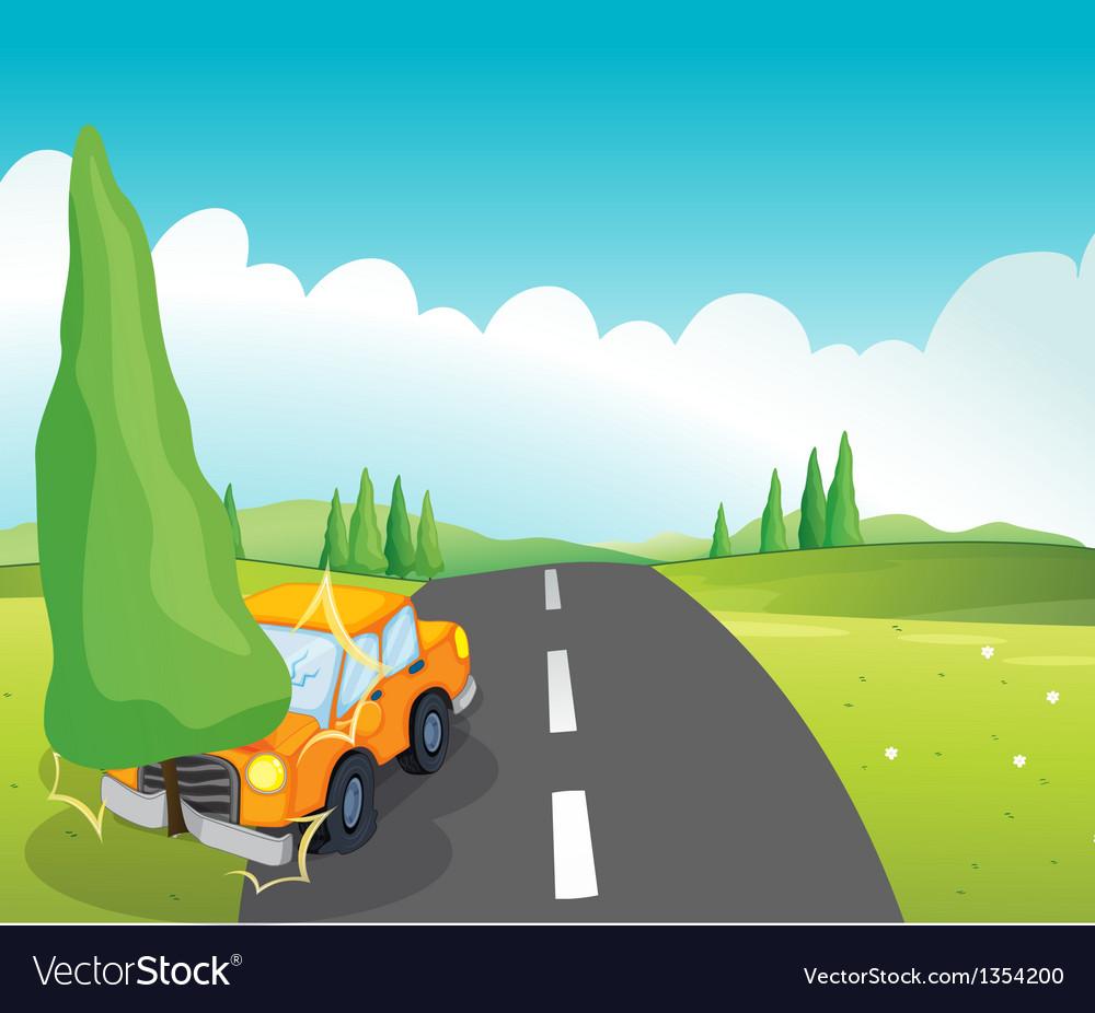 Cartoon car crash vector | Price: 1 Credit (USD $1)