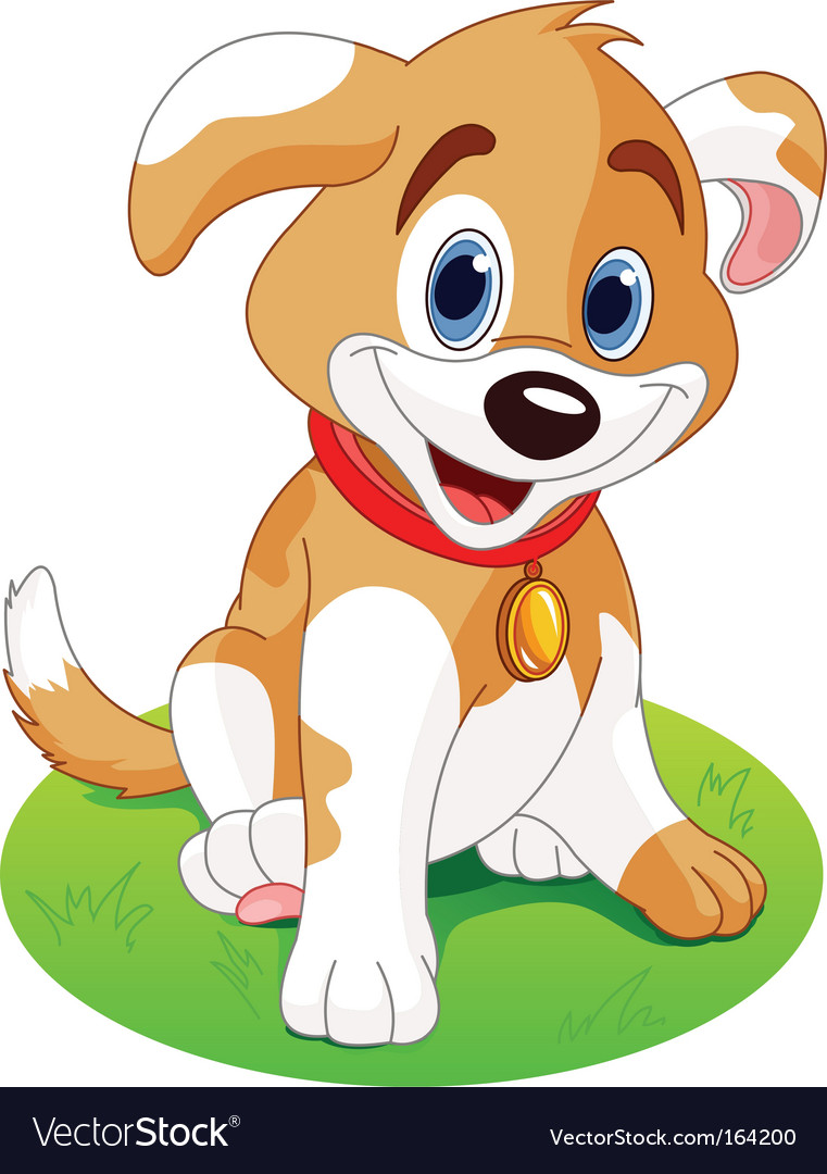 Cartoon puppy vector