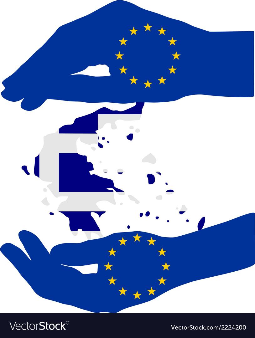 European help for greece vector   Price: 1 Credit (USD $1)