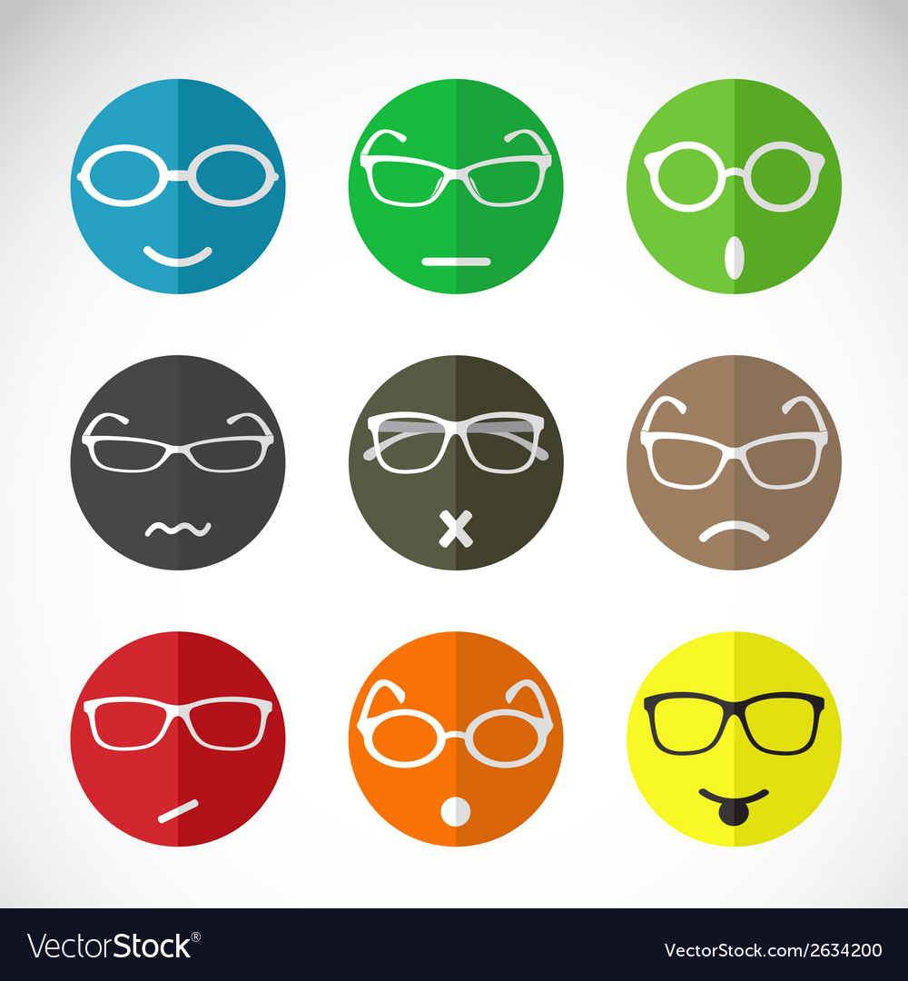 Faces with eyeglasses vector | Price: 1 Credit (USD $1)
