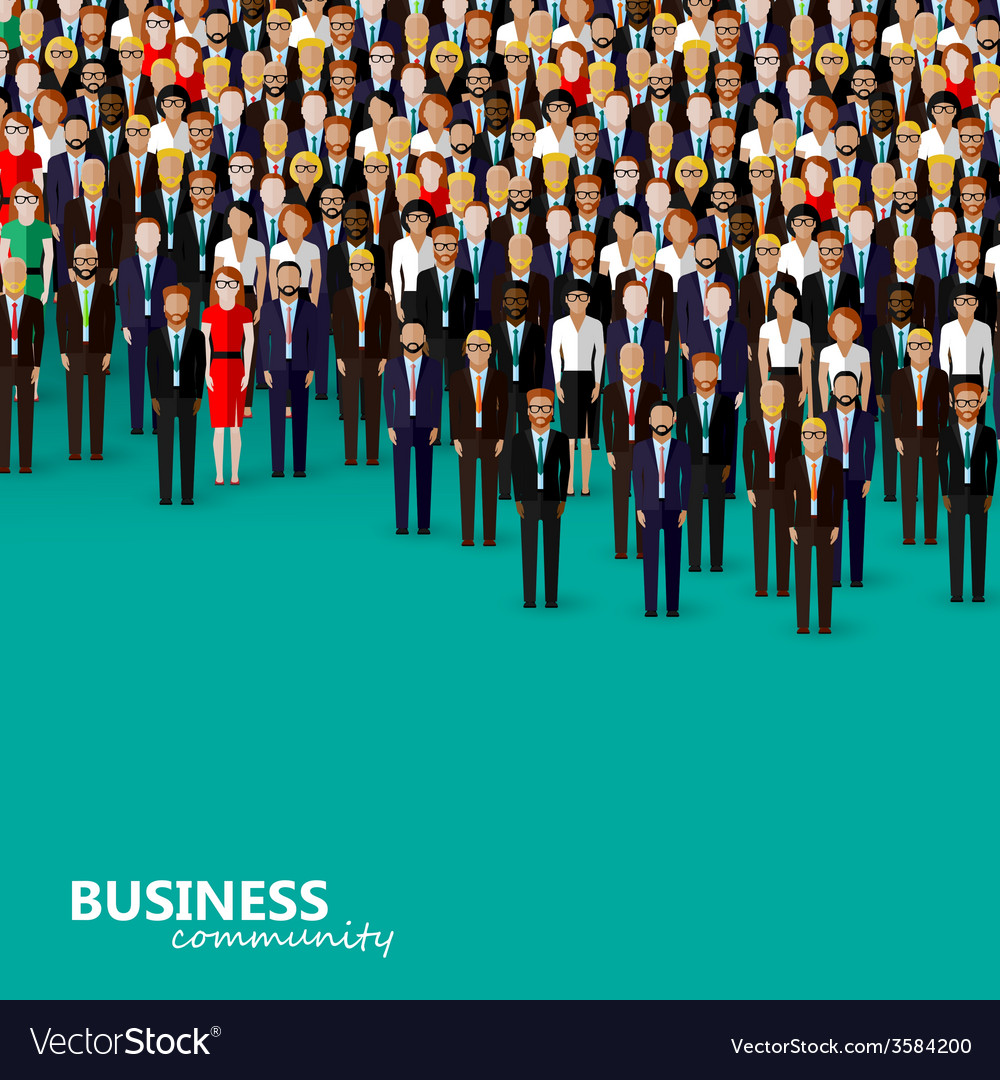 Flat of business or politics community a crowd of vector | Price: 1 Credit (USD $1)