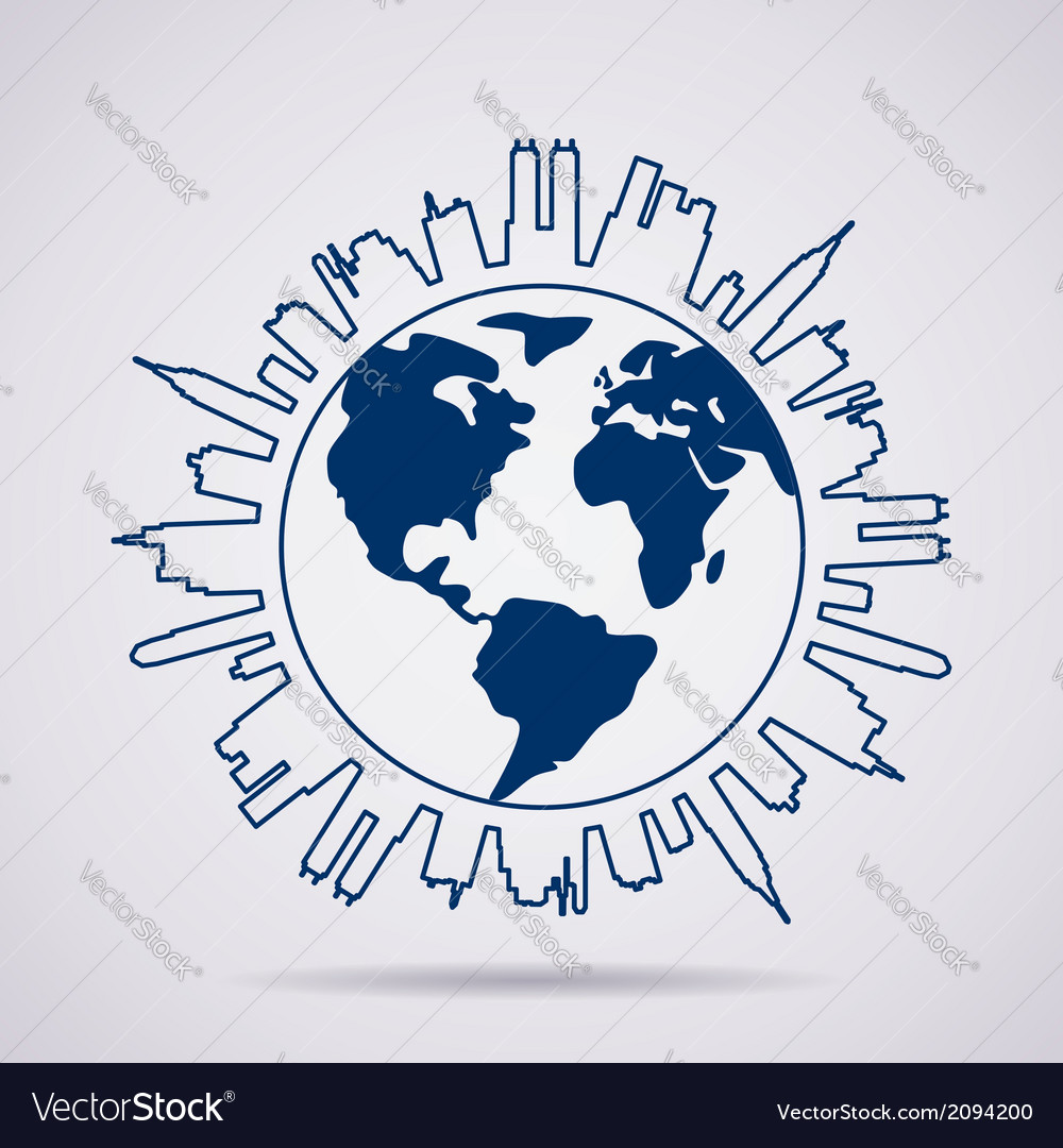 Global panorama vector | Price: 1 Credit (USD $1)