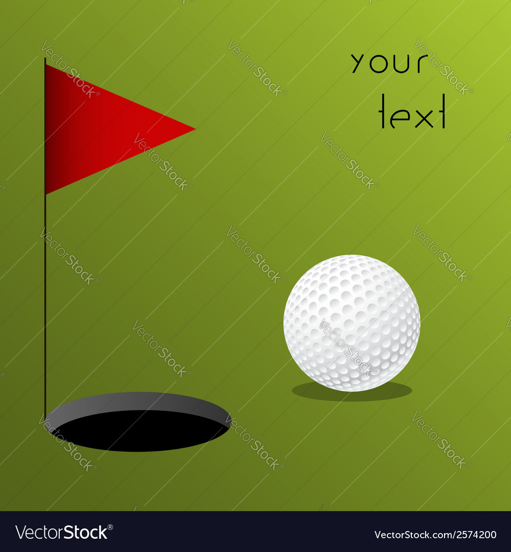 Golf vector | Price: 1 Credit (USD $1)