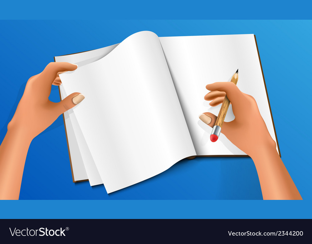 Hand writing with a pencil vector | Price: 1 Credit (USD $1)