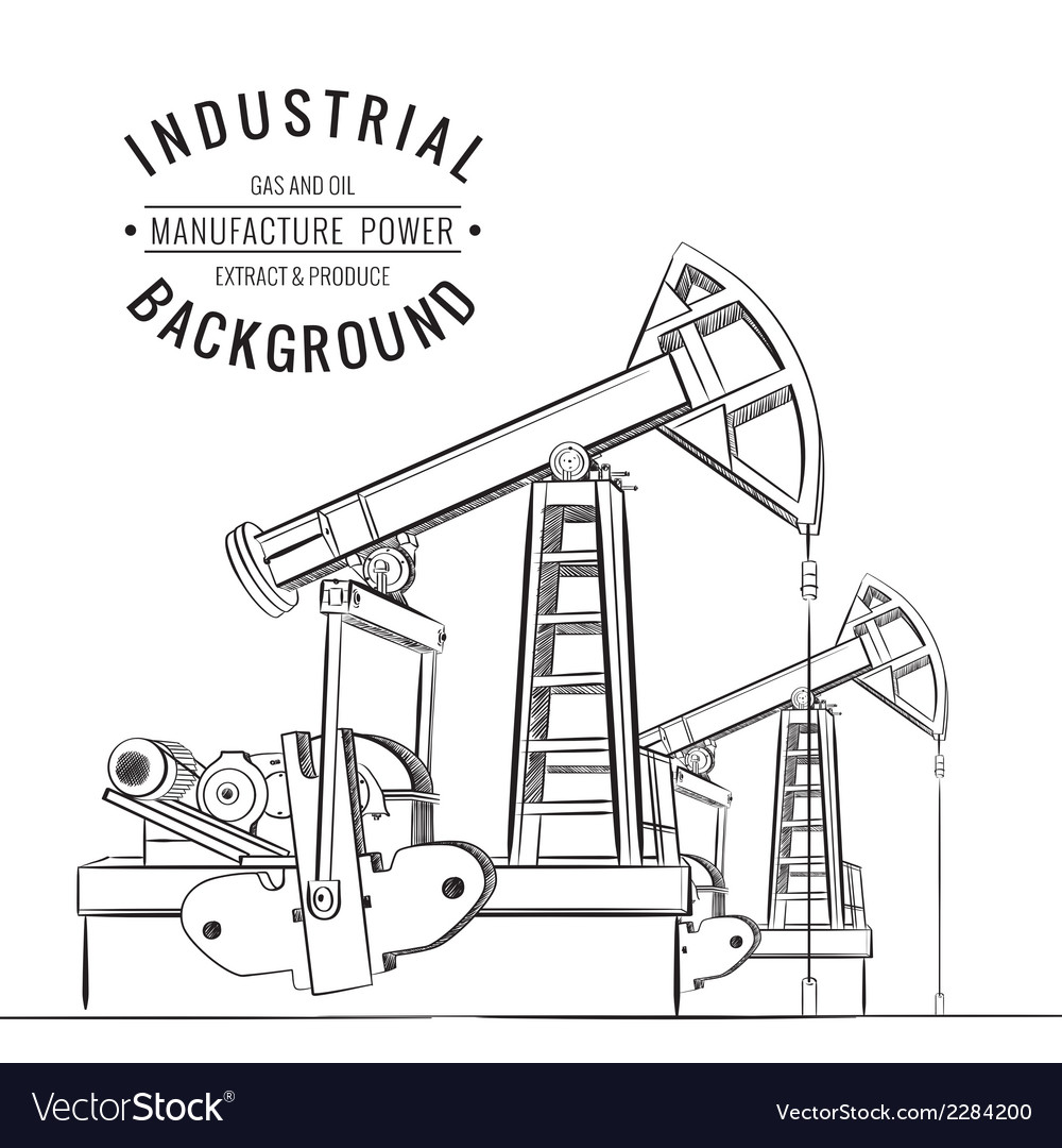 Oil pump isolated vector | Price: 1 Credit (USD $1)