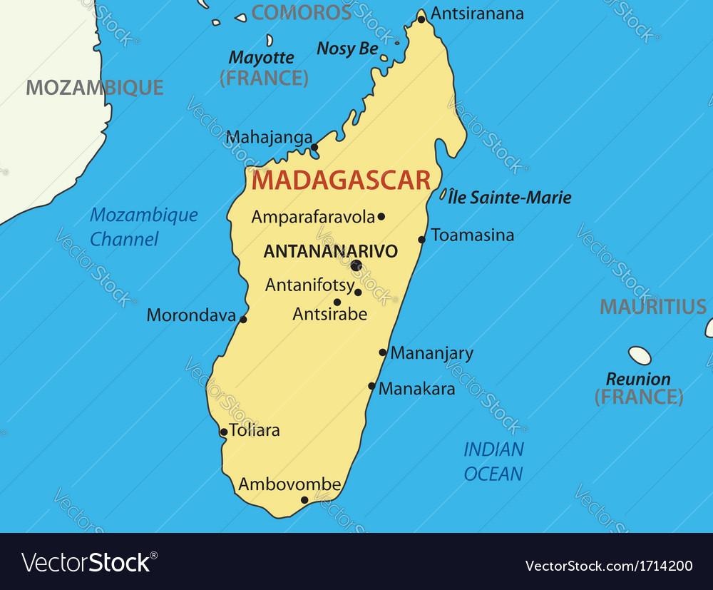 Republic of madagascar - map vector | Price: 1 Credit (USD $1)