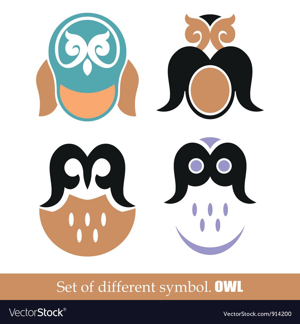 Set of symbols owl vector | Price: 1 Credit (USD $1)