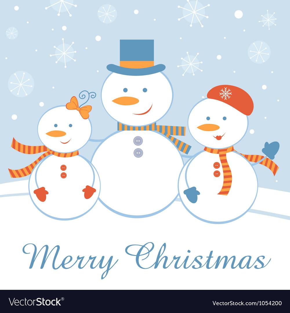 Snowmen family vector | Price: 1 Credit (USD $1)