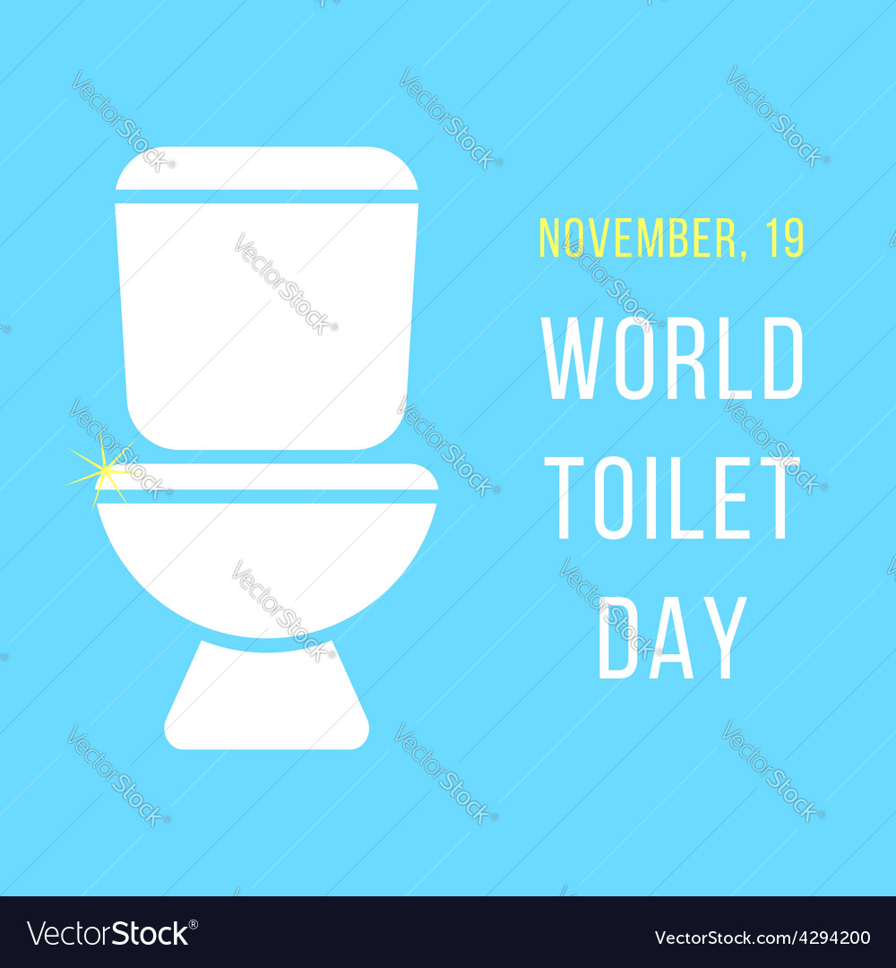 World day of the toilet bowl vector | Price: 1 Credit (USD $1)