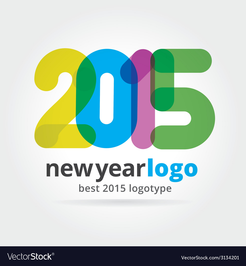 2015 logotype isolated on white background vector | Price: 1 Credit (USD $1)