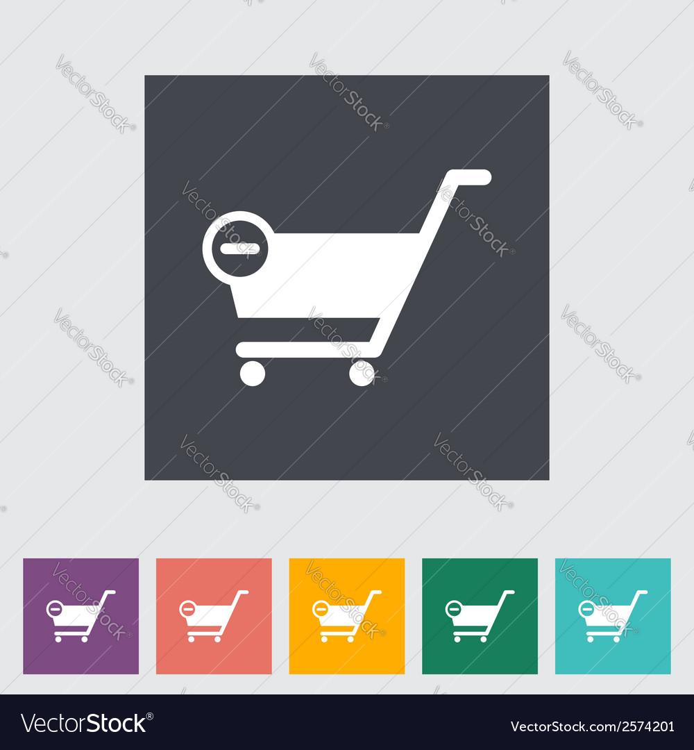 Cart flat single icon vector | Price: 1 Credit (USD $1)