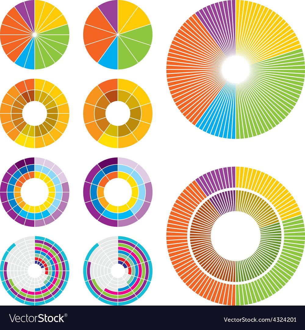 Circle charts low vector | Price: 1 Credit (USD $1)