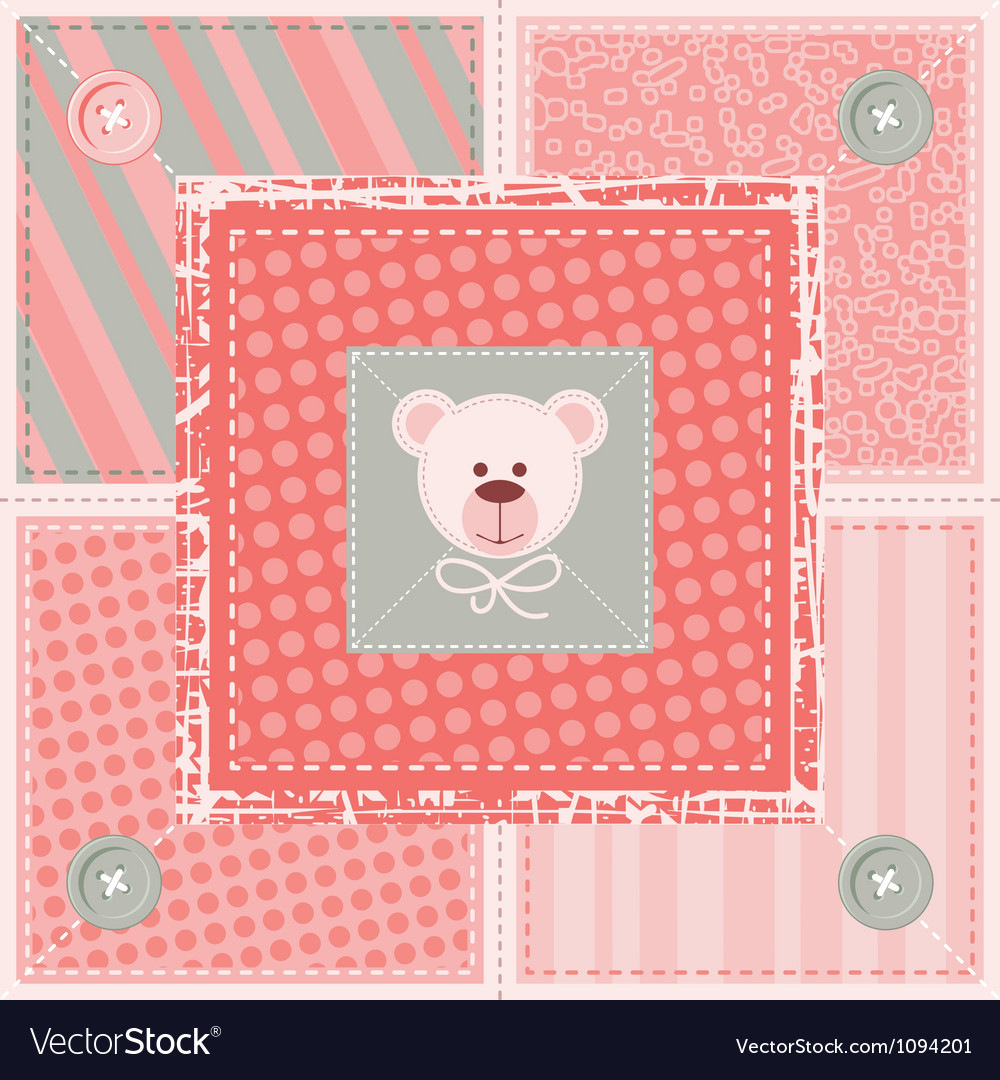 Cute quilt background vector | Price: 1 Credit (USD $1)