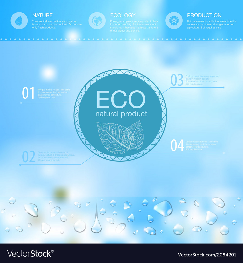 Ecology background vector | Price: 1 Credit (USD $1)